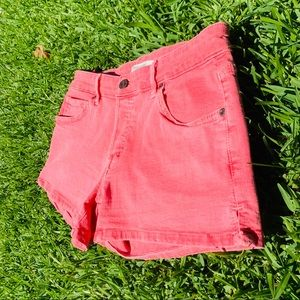 ✨RICH & SKINNY Coral Colored Jean Shorts✨